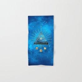 Magic Eye Blue Universe Hand & Bath Towel