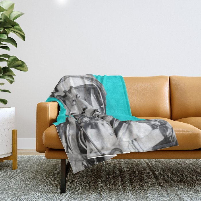"""JFK ASTRONAUT (or """"All Systems Are JFK"""") Throw Blanket"""