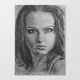 Portrait in pencil. Canvas Print