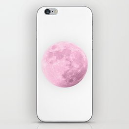 COTTON CANDY PINK MOON iPhone Skin