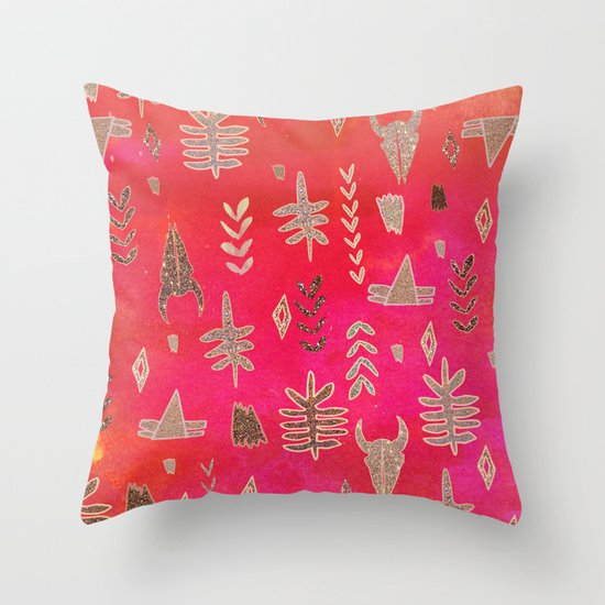 Tribal Sparkle Throw Pillow by Nikkistrange Society6