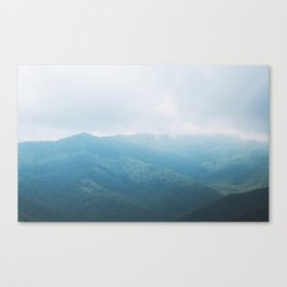 North Carolina Mountain Ranges Canvas Print