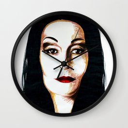 Morticia Addams Wall Clock
