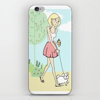 icecream iPhone & iPod Skins featuring Icecream by Marisa Marín