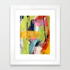 Hopeful[2] - a bright mixed media abstract piece Framed Art Print