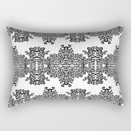 black and white vintage pattern III Rectangular Pillow