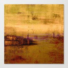 golden abstract landscape Canvas Print