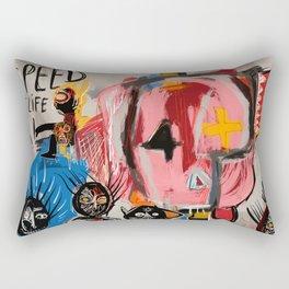 """""""The speed of life"""" Street art graffiti and art brut Rectangular Pillow"""