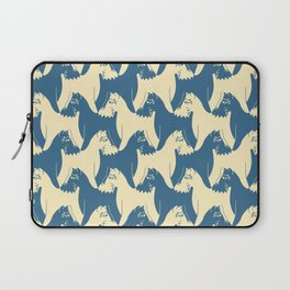 Dog Pattern | Schnauzer | M. C. Escher Inspired Artwork by Tessellation Art Laptop Sleeve