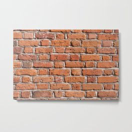 Red bricks wall texture abstract Metal Print