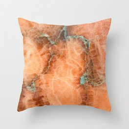 Abstract mineral texture Throw Pillow