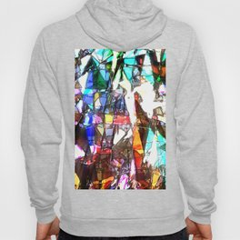Light Streaming Through Stained Glass Hoody