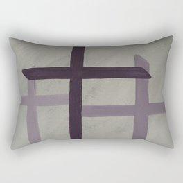 Easter Crosses Purple Rectangular Pillow