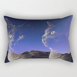 Cat and night sky Rectangular Pillow