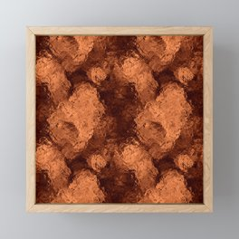 Patchwork Copper Rose Foil Framed Mini Art Print