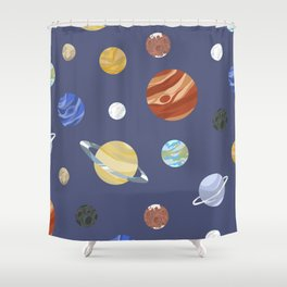 Panets! Shower Curtain