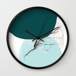 Rooted 5 Mid-Century Monoprint Wall Clock