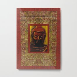 Buddha Ceremonial Thanka Metal Print