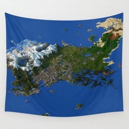 Voxel City Render - Incredibly Detailed Metropolis Wall Tapestry