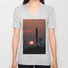 Glowing Sunset Unisex V-Neck
