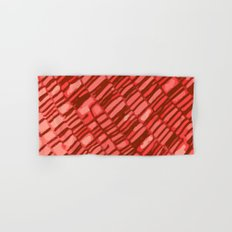 red structure Hand & Bath Towel