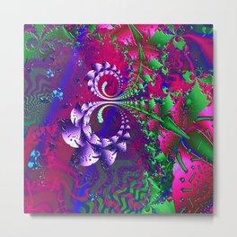 Nerd Berries Psychedelic Fractal Metal Print