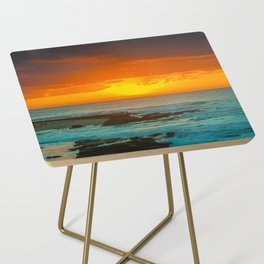 Sunset over childrens pool Side Table