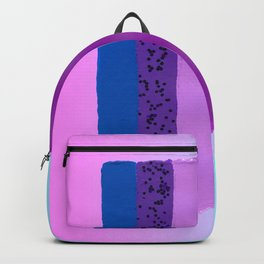 Sunset Color Palette Painted Swatch with Glitter over Pink and Blue Gradient Backpack