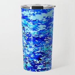 Blue Flames Background Travel Mug