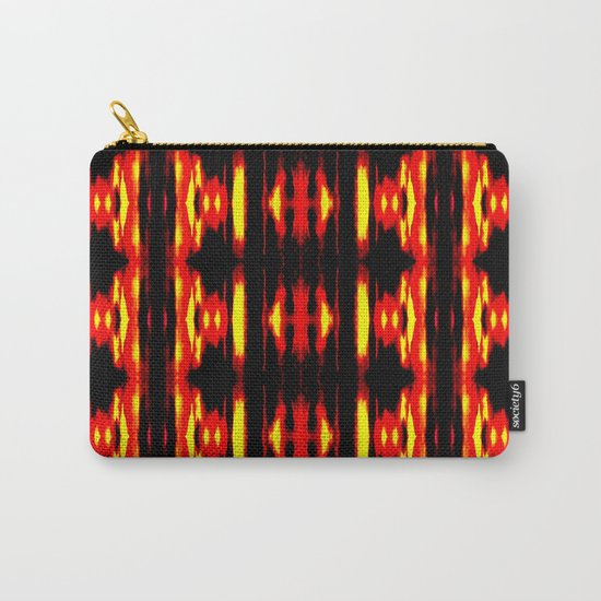 Orange Yellow Black Abstract Fire Pattern Carry-All Pouch