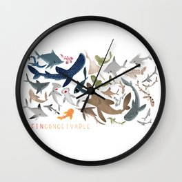 "FINconceivable Still ""Sharks"" Wall Clock"