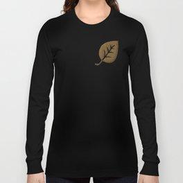 Decorative Gold Leaf Pattern Long Sleeve T-shirt