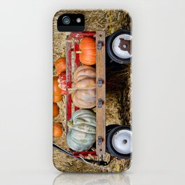 Wagon with Pumpkins iPhone Case