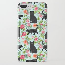 Black cat hawaiian cat breeds cat lover pattern art print cat lady must have iPhone Case