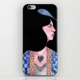 Blue(Klimt Inspired) Watercolor Painting by Grimmiechan iPhone Skin