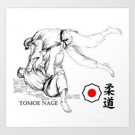 Técnica Tomoe Nage Art Print