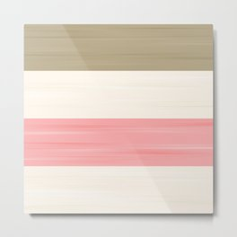 Brush Stroke Stripes: Neapolitan Ice Cream  Metal Print