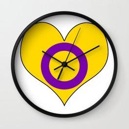 Intersex Heart v2 Wall Clock