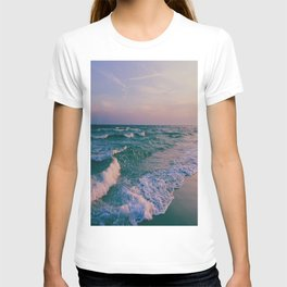 Sunset Crashing Waves T-shirt