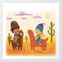 Friends in Mexico Art Print