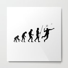 Badminton Evolution Metal Print