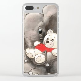 Baby Boo with Teddy Clear iPhone Case