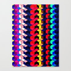 Spectrum Cubes / Pattern #7 Canvas Print
