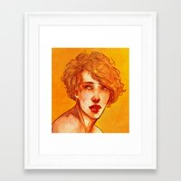 apollo Framed Art Prints featuring apollo by chazstity
