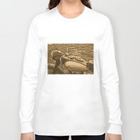 motorcycle Long Sleeve T-shirts featuring Jawa motorcycle by AhaC