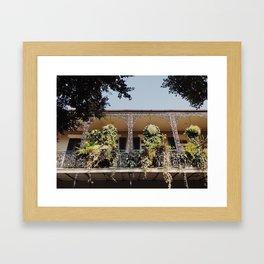 French Quarter Balcony Framed Art Print