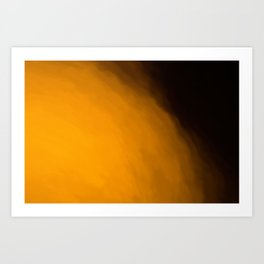 Abstract Orange and Black Shades.   Like painted on canvas. Art Print