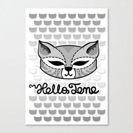 Hello Tene Canvas Print