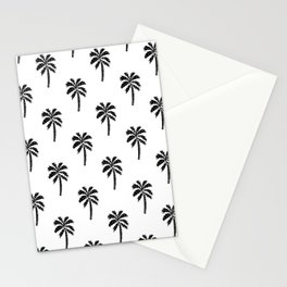 Palm Tree linocut minimal tropical black and white decor Stationery Cards