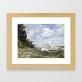 1872-Claude Monet-Bassin d'Argenteuil-60 x 80 Framed Art Print